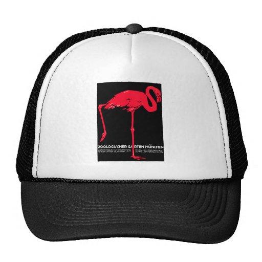 Arte do viagem do flamingo do jardim do jardim zoo bone