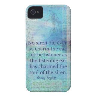 Arte do vintage das citações da sereia capinhas iPhone 4