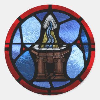 Arte do vitral do baptismo adesivo