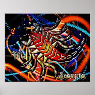 Arte do zodíaco da Escorpião Poster