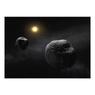 Arte dobro do espaço do Antiope do asteróide Impressão Fotográfica