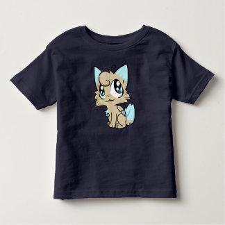 Arte doce do gato dos desenhos animados camiseta infantil