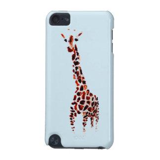 Arte dos animais selvagens do girafa capa para iPod touch 5G
