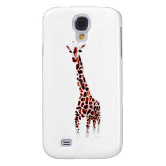 Arte dos animais selvagens do girafa capas personalizadas samsung galaxy s4