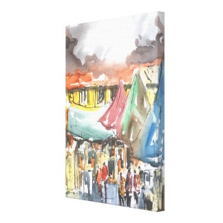 """""""Arte dos clientes"""" em canvas"""