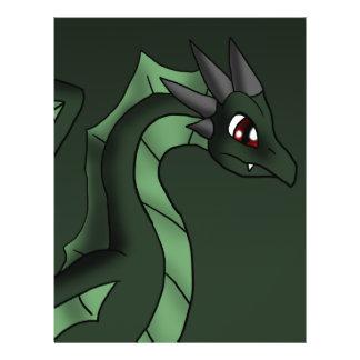 Arte dos desenhos animados da fantasia do dragão flyer 21.59 x 27.94cm