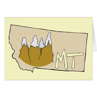 Arte dos desenhos animados do mapa da TA de Montan Cartao