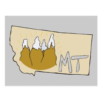 Arte dos desenhos animados do mapa da TA de Montan Cartoes Postais