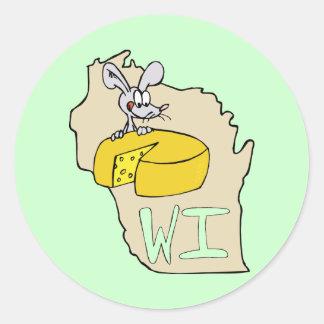 Arte dos desenhos animados do rato do mapa & do adesivo