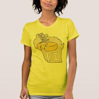Arte dos desenhos animados do rato do mapa do qu t-shirt