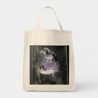Arte dos grafites/desenhos animados - soldador do  sacola tote de mercado