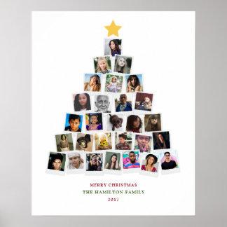 Arte dos instantâneos da árvore de Natal Pôster