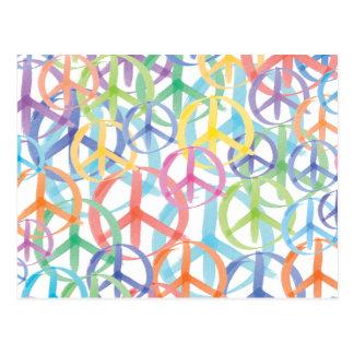 Arte dos símbolos de paz cartoes postais