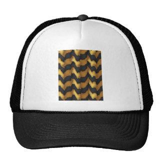 Arte dourada do teste padrão de onda da energia de boné