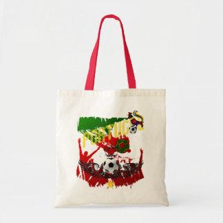 """Arte E Futebol Português - """"Portugal Allez """" Sacola Tote Budget"""