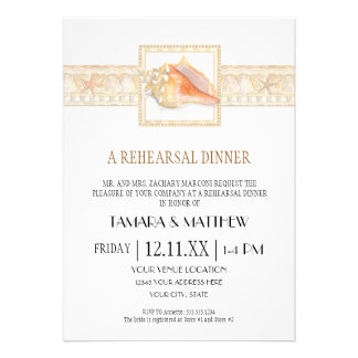 Arte elegante dos casamentos de Shell do Conch da  Convite