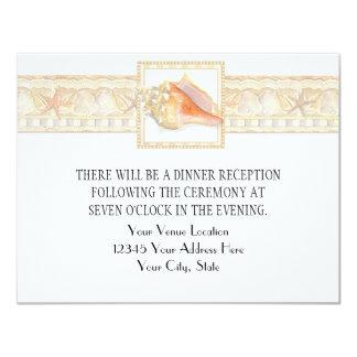 Arte elegante dos casamentos de Shell do Conch da Convite Personalizados