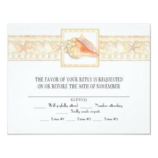 Arte elegante dos casamentos de Shell do Conch da Convite 10.79 X 13.97cm