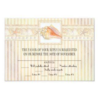 Arte elegante dos casamentos de Shell do Conch da Convite 8.89 X 12.7cm
