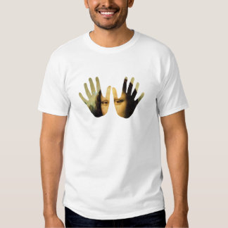 Arte em minha mão camisetas