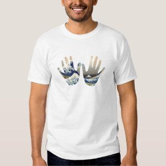 Arte em minha mão t-shirts