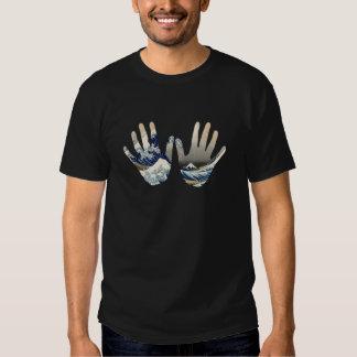 Arte em minha mão tshirt