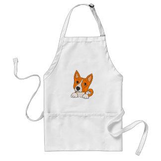 Arte engraçada do cão de filhote de cachorro de avental