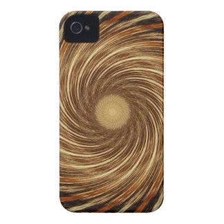 Arte espiral preta do caleidoscópio da onda de capinhas iPhone 4