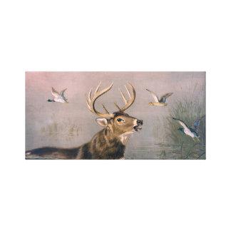 Arte esticada veado das canvas dos cervos