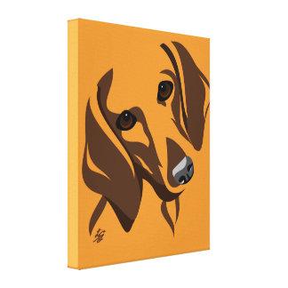 Arte estilizado das canvas do Dachshund