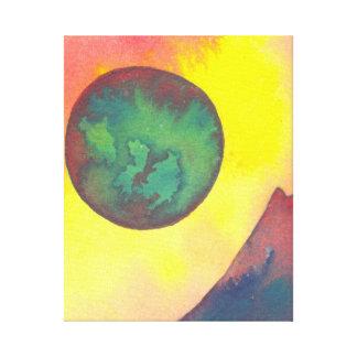 Arte estrangeira da ficção científica da lua de tu impressão de canvas envolvidas