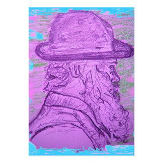 arte famosa do pintor cartão de visita grande