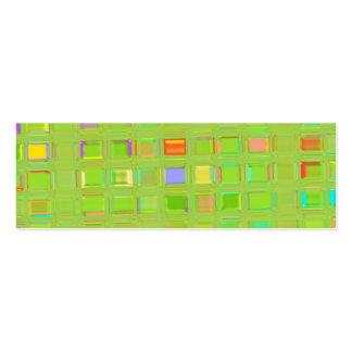 Arte feita sob encomenda de vidro verde-clara de cartão de visita skinny