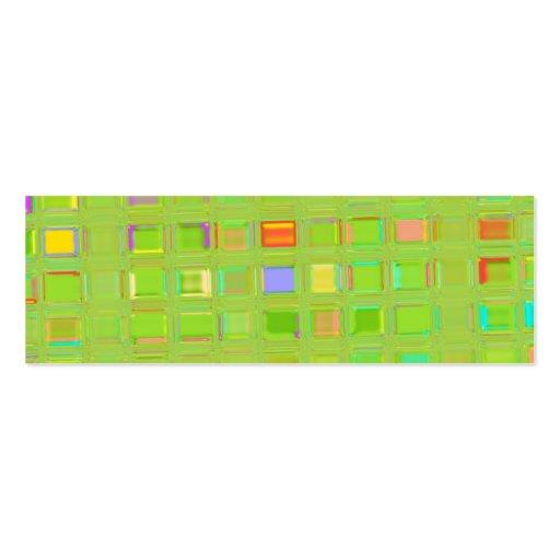 Arte feita sob encomenda de vidro verde-clara de D Modelo Cartoes De Visita