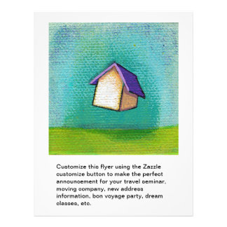 Arte feliz colorida de viagem do divertimento home flyer 21.59 x 27.94cm
