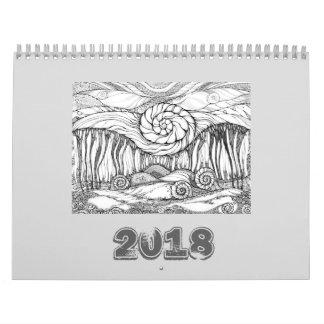Arte FineLine do calendário 2018