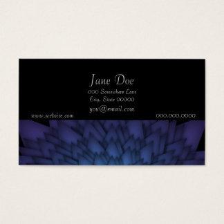 Arte floral abstrata do azul e do branco cartão de visitas
