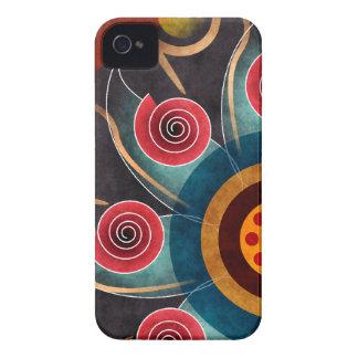 Arte floral Blackberry do vetor do abstrato da cor Capinhas iPhone 4