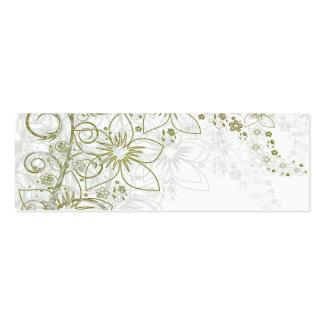 Arte floral branca cartão de visita