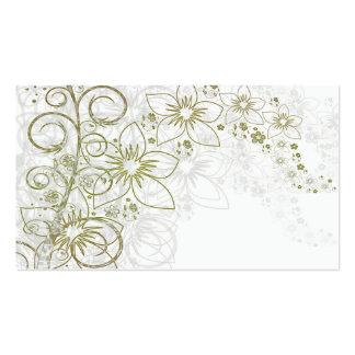 Arte floral branca modelos cartões de visita