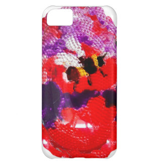 Arte floral da abelha da flor capa para iPhone 5C