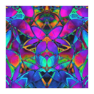 Arte floral do Fractal das canvas