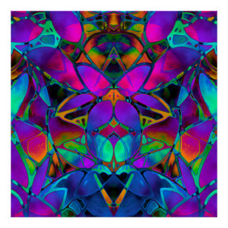 Arte floral do Fractal do poster