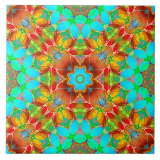 Arte floral G410 do Fractal do azulejo