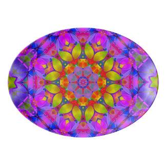 Arte floral G445 do Fractal da bandeja