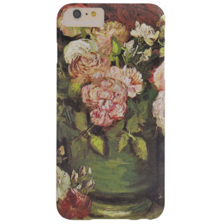 Arte floral GalleryHD das peônias e dos rosas de Capas iPhone 6 Plus Barely There