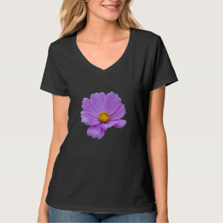 Arte floral roxa camiseta