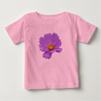 Arte floral roxa camiseta para bebê