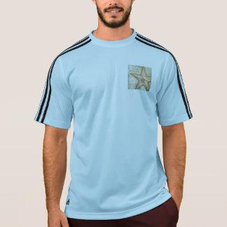 Arte francesa da estrela do mar do vintage camiseta