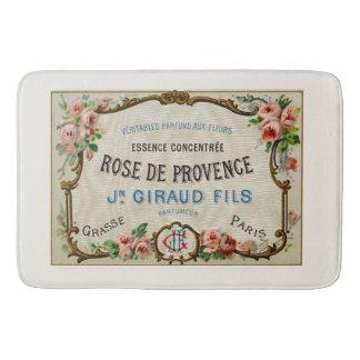 Arte francesa do anúncio do perfume do vintage tapete de banheiro